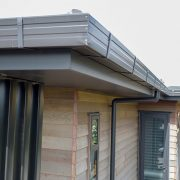 downpipes and gutters for new home