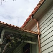 copper spouting and downpipe