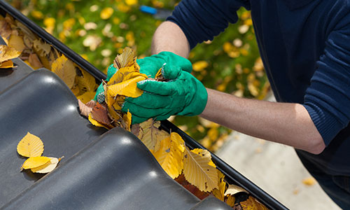 prevent clogged gutters and spouting