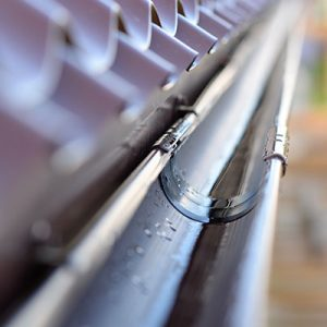 Close up of Clean Rain Gutters